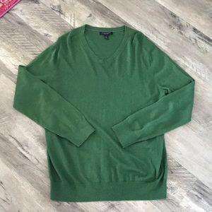 Mens Banana Republic Green V-Neck Sweater